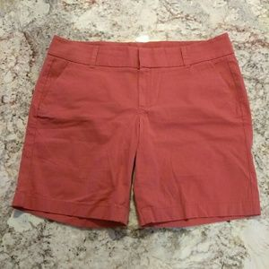 EUC size 12 J.Crew dark coral color shorts